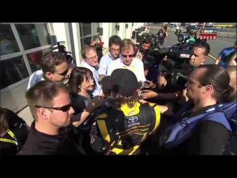 Kimi giving interview  - Nascar Charlotte Motor Speedway 2011