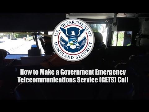 How To Make A Government Emergency Telecommunication Service (GETS) Call