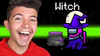 TROLLING Everyone as a WITCH in Among Us! - Mods