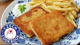 Breaded Fried Cheese Recipe -  Smažený sýr - Czech Cookbook
