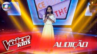 Isadora Ferreira canta 'O Canto Das Três Raças' na Audição – The Voice Kids Brasil | 2ª Temporada