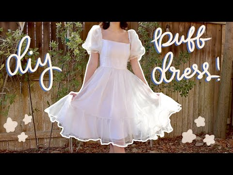 Diy Puff Sleeve Dress!    Pattern Available!   Selkie Inspired Puff Dress Tutorial ✨so dreamy✨ - YouTube