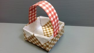 Free Origami Paper - Print Your Own! - Gingham Check