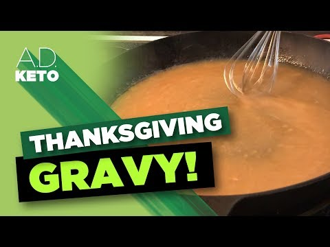 Thanksgiving Keto Gravy! | Low Carb Gravy | Another video with my mom!