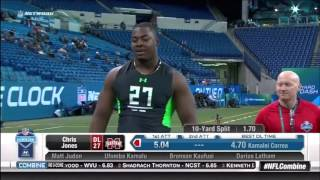 Funny - Chris Jones' penis comes out during the NFL 40-yard dash