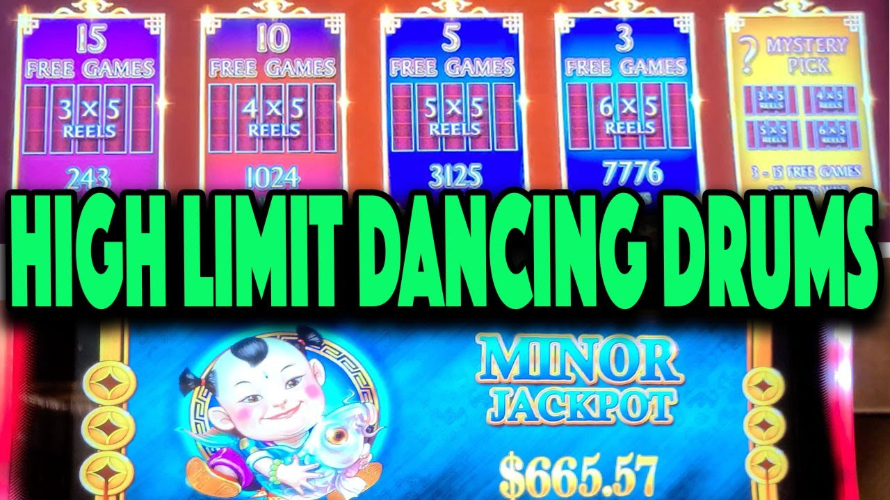 PROGRESSIVE JACKPOT on High Limit Dancing Drums at Hard Rock Tampa!