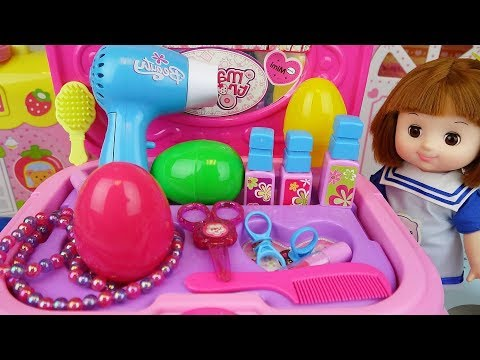 Baby doll Beauty box and surprise eggs toys baby Doli play