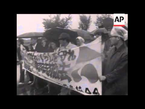 SYND 06-02-69 OKINAWANS PROTEST AT AMERICAN B52'S BEING BASED THEIR WITH STRIKES AND DEMONSTRATIONS