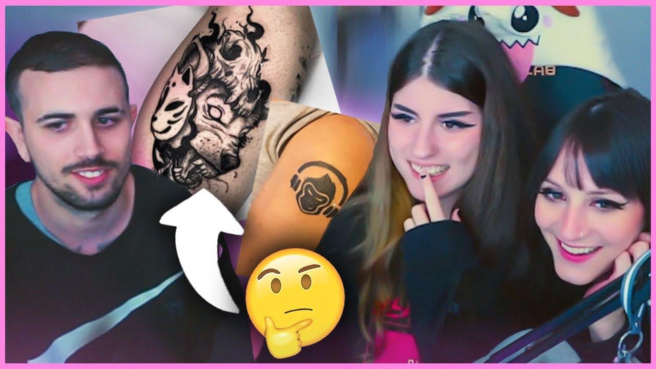 reaccionando a tatuajes del chat ft. May y Sergio  ٩(◕‿◕。)۶