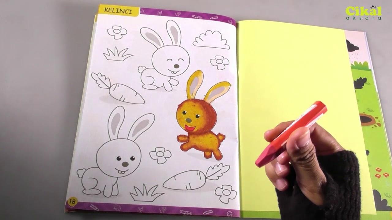 Cara Mewarnai Kelinci Dengan Krayon Aktivitas Pada Buku Asyik Menempel Stiker