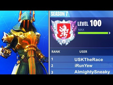 """WORLDS FIRST LEVEL """"100"""" IN FORTNITE BATTLE ROYALE SEASON 7! WORLDS FIRST LIVE (FORTNITE) thumbnail"""