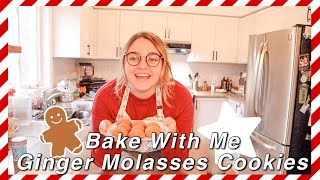 Bake With Me - Ginger Molasses Cookies  VLOGMAS DAY 8  Magically Katelyn