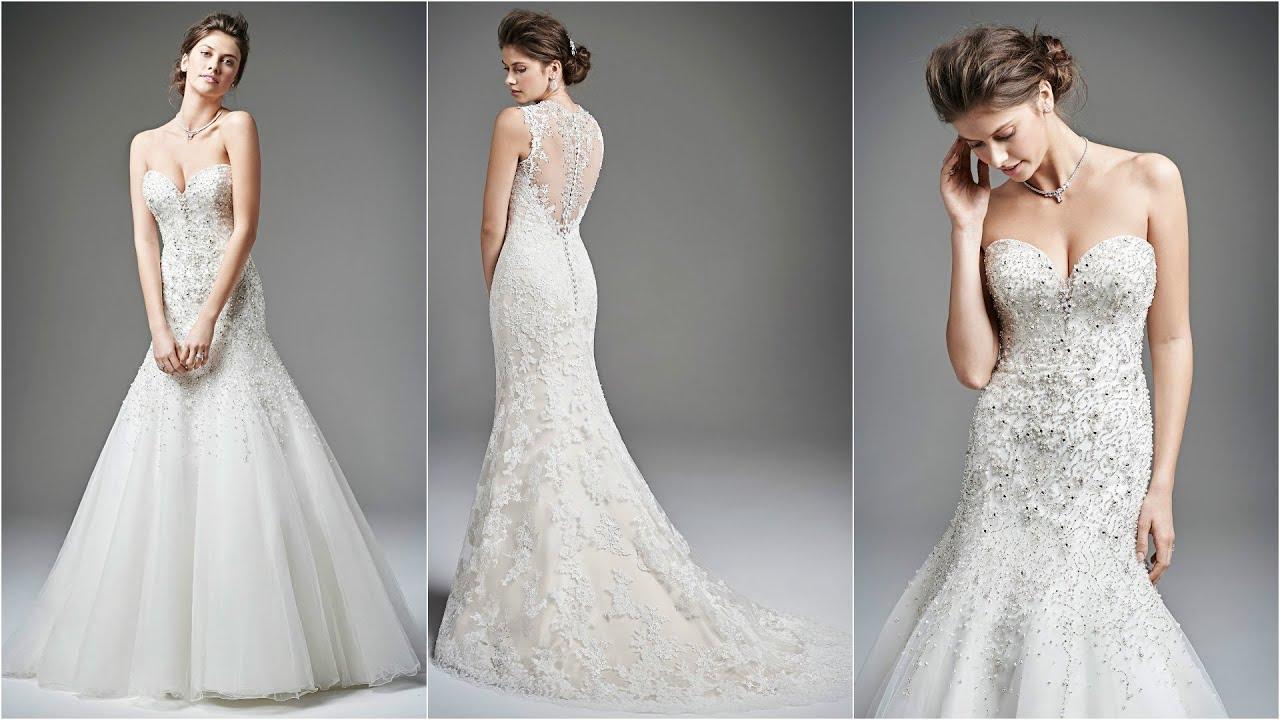 Sexy strapless wedding dresses