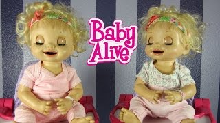 My Baby Alive Learns to Potty Twins Details + Feeding + Changing Video