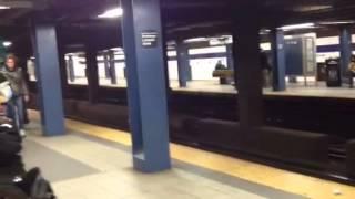 New york train subway on xmas eve 2013