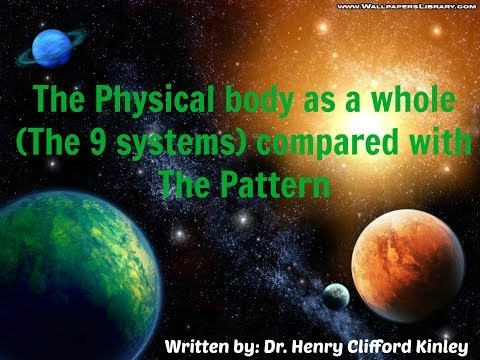 The Physical body (9 Systems) compared with the Pattern. Written by Dr. Henry Clifford Kinley