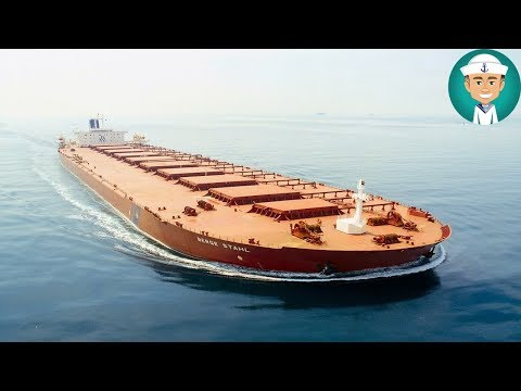 Large Bulk Carrier Ship Deck
