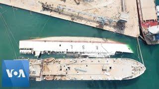 Lebanon: Aerial Shots Show Devastated Beirut Port