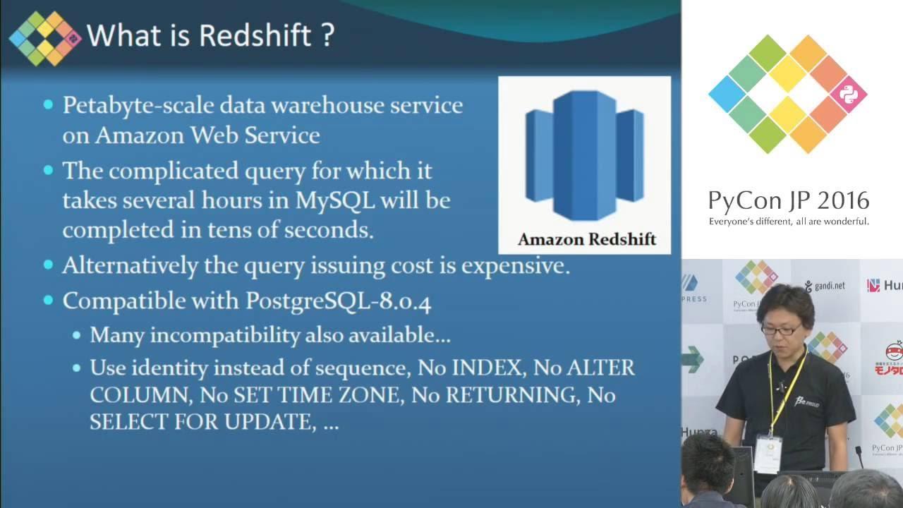Image from 仕事で使うちょっとしたコードをOSSとして開発メンテしていく - Django Redshift Backend の開発