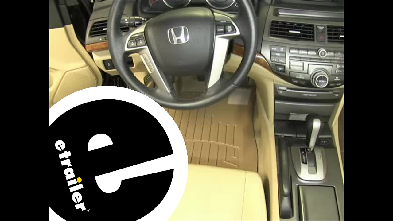 Weathertech mats civic - Review Of The Weathertech Front Floor Liners On A 2011 Honda Accord Etrailer Com