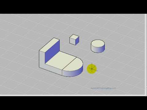 AutoCAD 3D Modelling - Positioning Objects