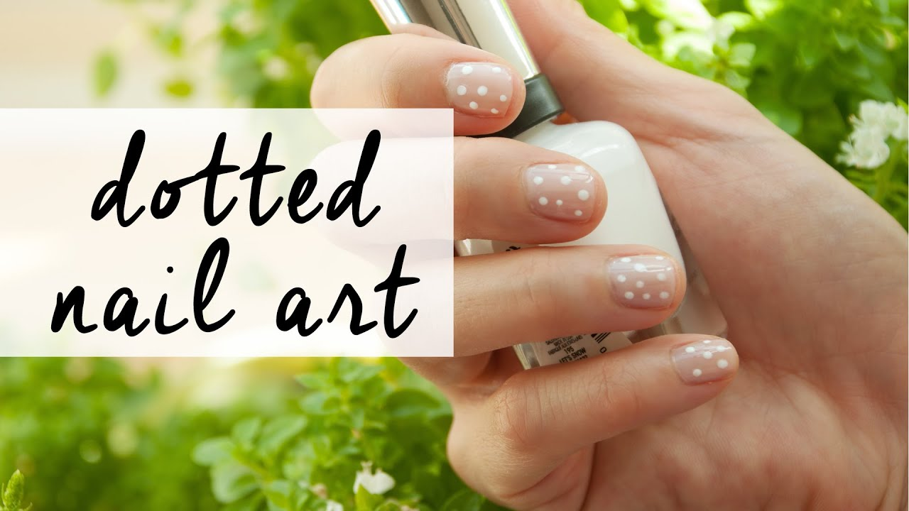 Easy Dotted Nail Art | The Sunday Project - YouTube
