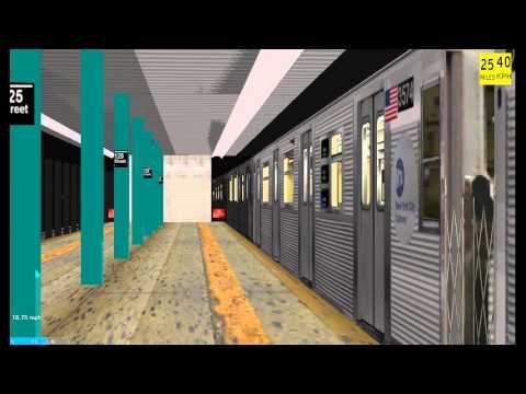 OpenBVE Railfanning: IND Central Park West Line: 125th Street (A)(B)(C)(D)
