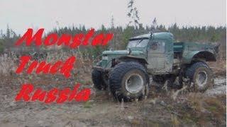 Monster Truck Selfmade From Russia Monstertruck Eigenbau Aus Russland 4x4 Offroad
