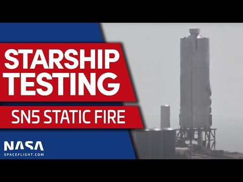 Starship SN5 Static Fire From Boca Chica, Texas