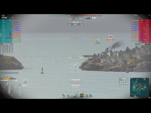 World of warships over pens and bounce oh and fires
