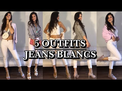 Natsha Gibson zeigt uns wie man weiße Jeans trendig