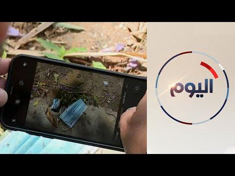 انتشار ظاهرة رمي القفازات والكمامات في الشوارع بلبنان