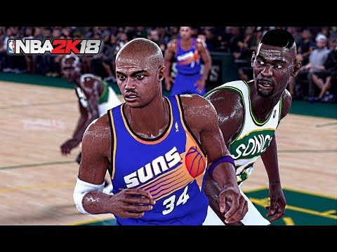 1993 Phoenix Suns vs. Seattle SuperSonics | NBA 2K18 PC Gameplay | 1440p 60fps