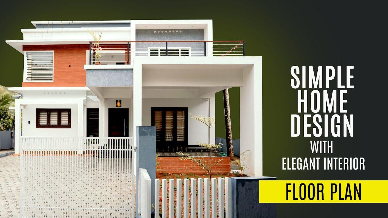 Simple & Modern Kerala 2 Storey Home Design   Modern Contemporary box elevation   Shelter Living