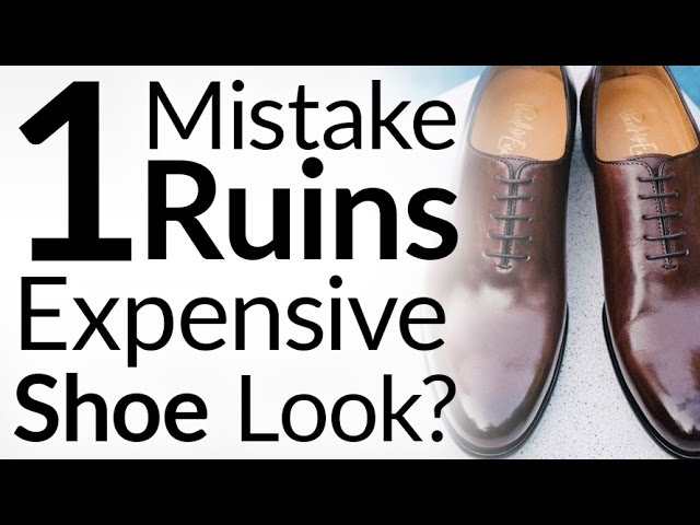 Dress Shoes Laced Incorrectly