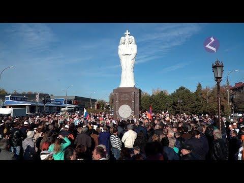 Армавир. Открытие памятника армяно-российской дружбы.