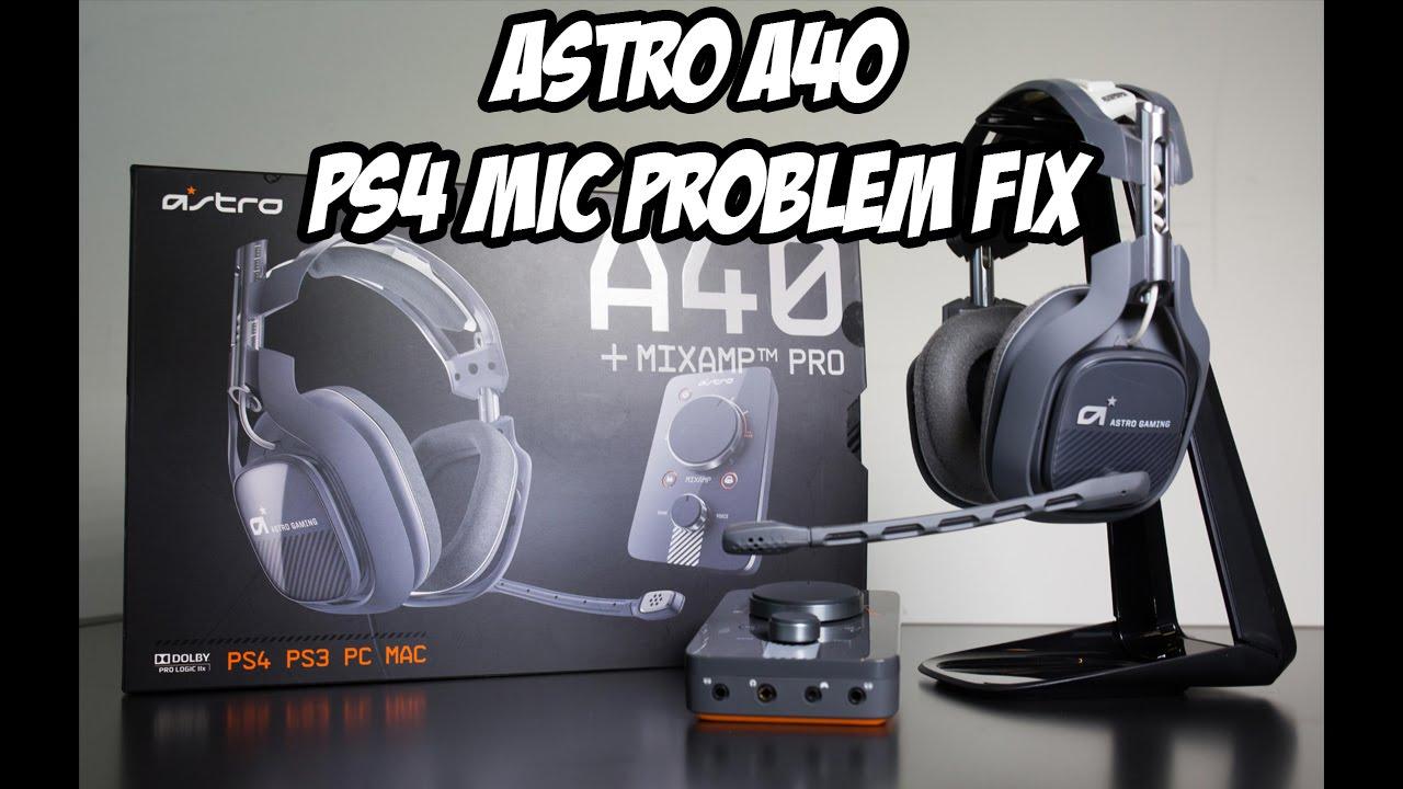 Astro A40 PS4 Mic Problem! [Improvement]