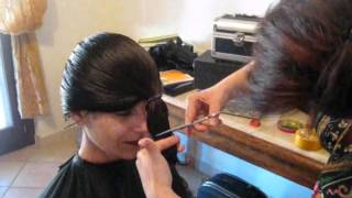 Taglio capelli, fai da te, con elastico