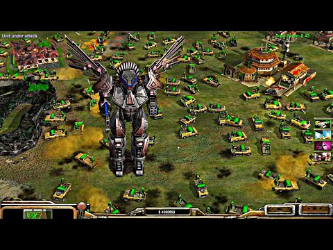 Super Robot Of USA Cybernetic General Vs GLA Assault | Contra Mod 2020 | C&C : Zero Hour