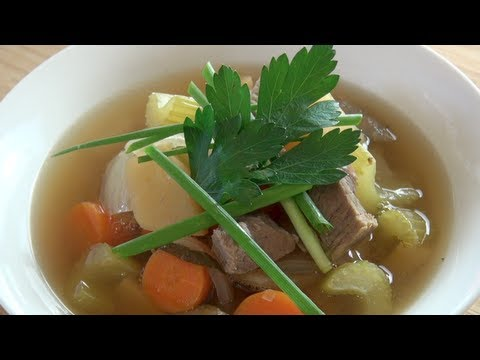 BEEF & VEGETABLE SOUP - SLOW COOKER RECIPE