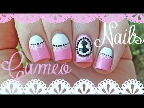 elegant cameo nail art  youtube