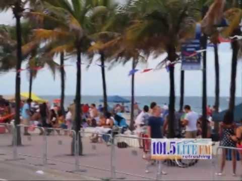 101 5 LITE FM 4 July At Ft Lauderdale Beach