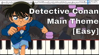 Case Closed - Detective Conan: Main Theme [Easy] [Piano Tutorial]