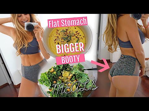 What I eat in a day | Flat Stomach & NICE BOOTY (vegetarian)