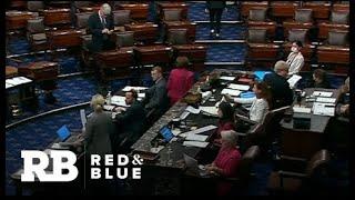 Senate Republicans block bipartisan infrastructure vote, but talks continue