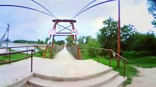 Абинск подвесной мост