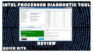 how To Run  intel CPU Diagnostic Tool Review  Quick Info About Your Intel Chip
