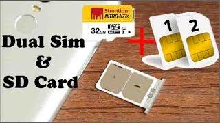 How to Use Dual Sim & SD Card Simultaneously On xiaomi Redmi Note 3