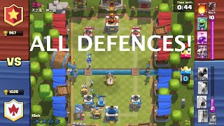 Trolling noobs in Clash Royale! (All Defences)