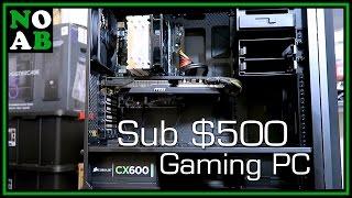 400 500 budget gaming pc build for may 2017 skylake i5 6600 r9 290x mastercase 5